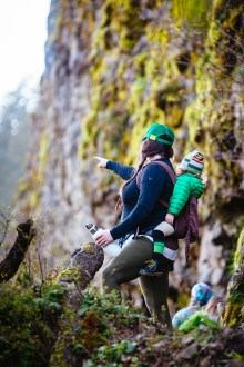 Brittney Weaver and her son on a Hike It Baby excursion at the Upper McCord Creek trail in the Columbia River Gorge.